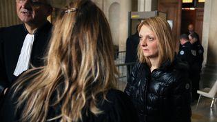 Rachel Lambert, l'épouse de Vincent Lambert, au palais de justice de Reims (Marne), le 1er février 2016. (FRANCOIS NASCIMBENI / AFP)