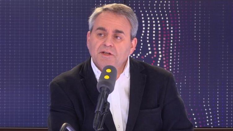 Xavier Bertrand, président de la région Hauts-de-France, invité de franceinfo le vendredi 29 mars (FRANCEINFO / RADIOFRANCE)