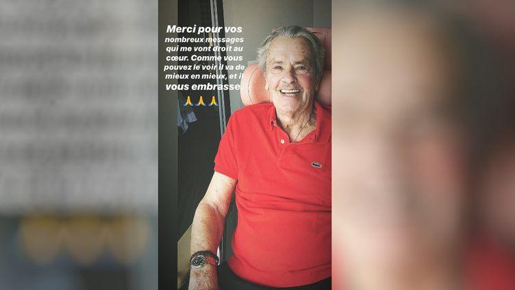 Capture d'écran d'unmessage posté sur le compte Instagram du fils d'Alain Delon,Alain-Fabien Delon,le 11 août 2019. (INSTAGRAM)