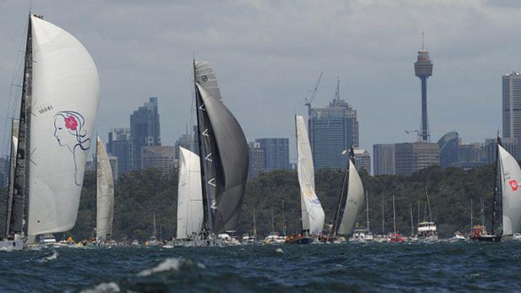 La flotte s'est élancée depuis la baie de Sydney
