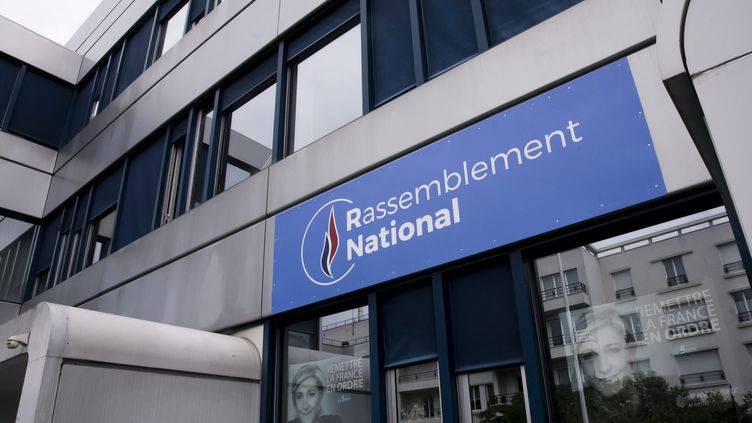 Le siège du Rassemblement national à Nanterre dans les Hauts-de-Seine. (VINCENT ISORE / MAXPPP)