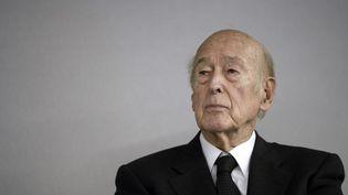 L'ancien président de la République, Valéry Giscard d'Estaing, au Bourget (Seine-Saint-Denis), le 14 octobre 2014. (STEPHANE DE SAKUTIN / AFP)