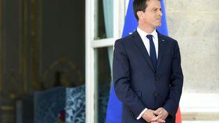 Le Premier ministre, Manuel Valls, le 13 juillet 2015 au ministère de la Défense à Paris. (ALAIN JOCARD / AFP)