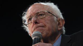 Bernie Sanders, le 26 février 2020, lors d'un meeting àMyrtle Beach, en Caroline du Sud (Etats-Unis).  (JIM WATSON / AFP)