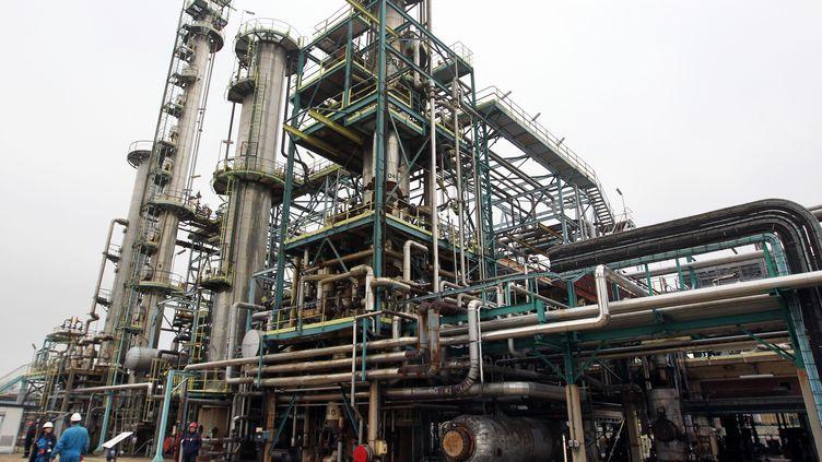 Le site de la raffinerie Petroplus de Petit-Couronne (Seine-Maritime), le 30 janvier 2012. (KENZO TRIBOUILLARD / AFP)