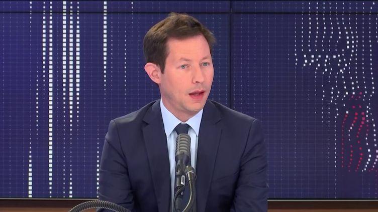 L'eurodéputé Les Républicains, François-Xavier Bellamy, était l'invité de franceinfo, mercredi 15 juillet. (FRANCEINFO / RADIOFRANCE)