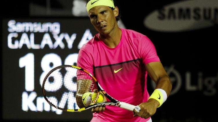 Rafael Nadal lors du tournoi de Rio (Brésil), le 19 février 2015. (BRAZIL PHOTO PRESS / AFP)