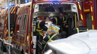 L'explosion dans le centre-ville de Lyon a fait 13 blessés, le 24 mai 2019. (J PHILIPPON / MAXPPP)