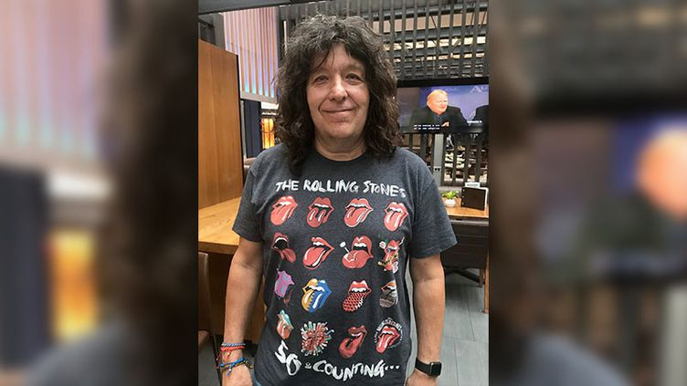 Yves Lavoie, fan des Rolling Stones. (GREGORY PHILIPPS / RADIO FRANCE)