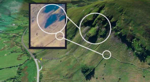 Comparatif entre Google Earth et un extrait de la vidéo diffusée par la chaîne indienne Times Now. (CAPTURE D'ECRAN GOOGLE EARTH)