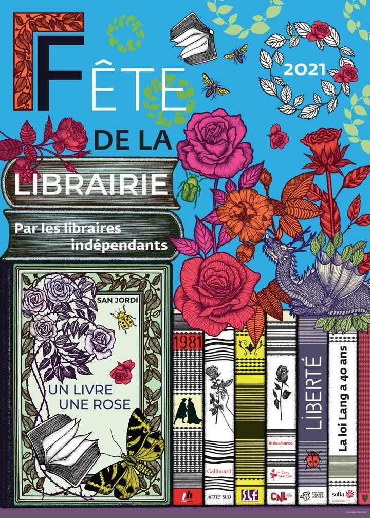 Affiche de la fête de la librairie indépendante 2021 (Association Verbes)