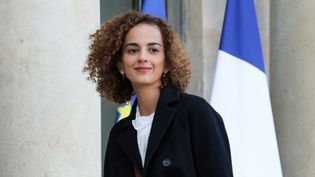 La romancière Leïla Slimani à son arrivée à l'Elysée le 6 novembre 2017.  (Ludovic Marin / AFP)