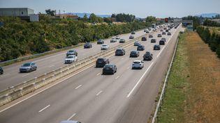 L'autoroute A7 à Valence (Drôme), le 9 août 2020. (NICOLAS GUYONNET / HANS LUCAS / AFP)