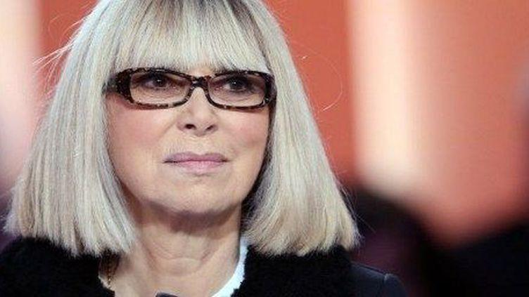 Mireille Darc sur un plateau de télévision  (AFP/THOMAS SAMSON )
