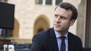 Emmanuel Macron, le 24 janvier 2017 à Beyrouth (Liban). (MAXPPP)