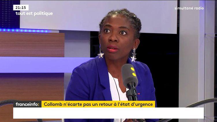 Danièle Obono, députée La France insoumise de Paris, était l'une des invités de Tout est politique, mercredi 1er novembre sur franceinfo. (FRANCEINFO / RADIOFRANCE)