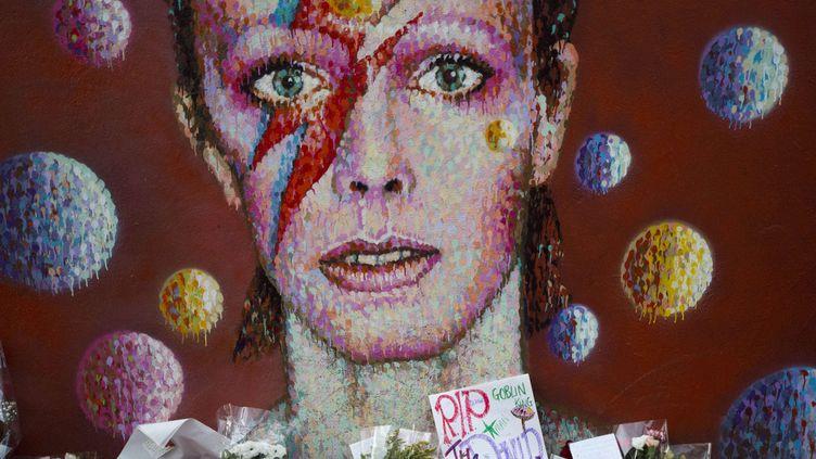 Le mur de Brixton en hommage à David Bowie, le 12 janvier 2016.  (Matt Dunham/AP/SIPA)