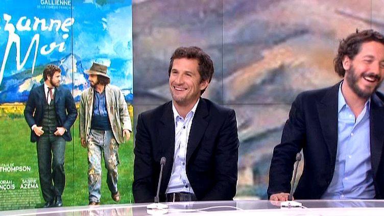 Guillaume Canet et Guillaume Gallienne au 20 heures de France 2  (France2/culturebox)