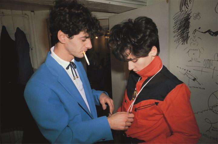 Etienne Daho et Nicole Calloc'h des Sax Pustuls aux Transmusicales de Rennes 1980.tif (Pierre René-Worms)
