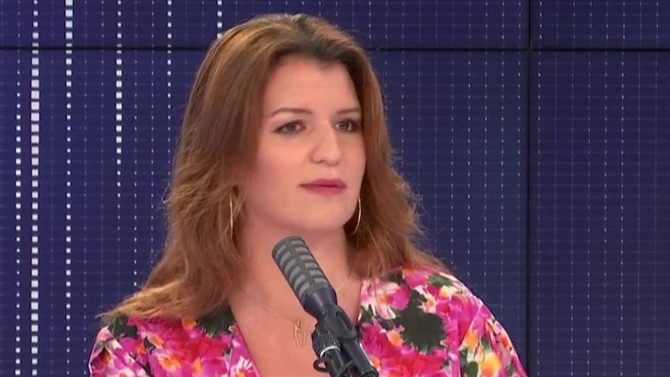Marlène Schiappa, le 2 juillet sur franceinfo. (FRANCEINFO / RADIOFRANCE)