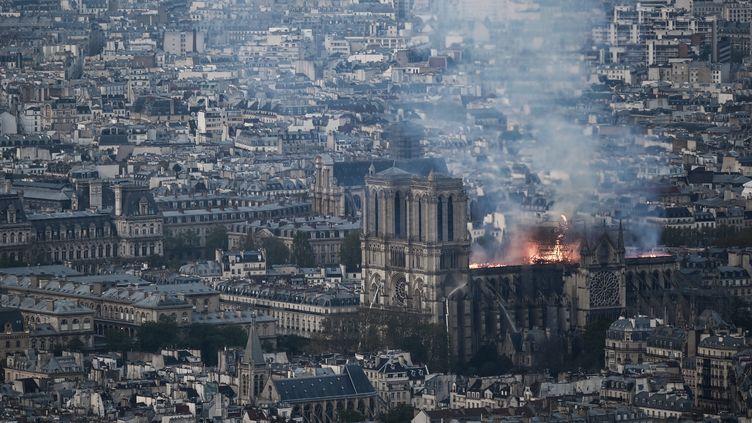 Notre-Dame de Paris en proie aux flammes, 15 avril 2019 (PHILIPPE LOPEZ / AFP)