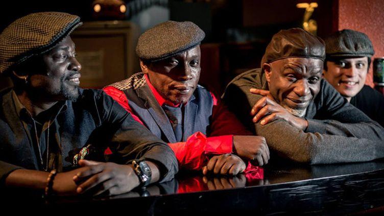 "Fredy Massamba, Ballou Canta, Ray Lema et Rodrigo Viana pour ""Nzimbu"".  (Facebbok de Ray Lema)"