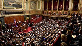 François Hollande avait réuni le Congrès au lendemain des attentats de Paris, le 16 novembre 2015. (ERIC FEFERBERG / AFP)