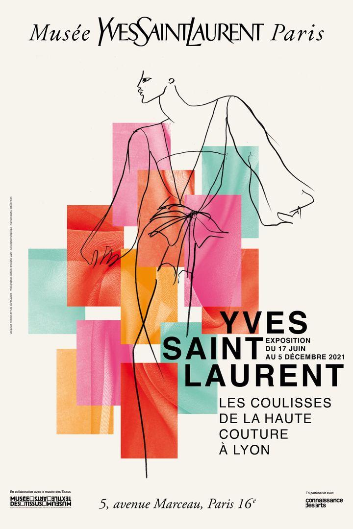 Affiche de l'exposition Yves Saint Laurent Les coulisses de la haute couture à Lyon (DR)