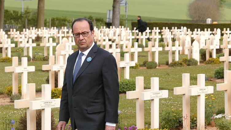 François Hollande, le 16 avril 2017. (FRANCOIS NASCIMBENI / POOL)