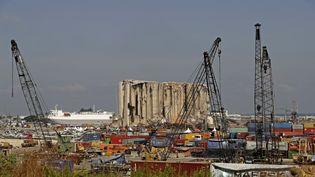 Le port de Beyrouth le 4 août 2021, un an après la double explosion qui l'a en grande partie ravagé. (JOSEPH EID / AFP)