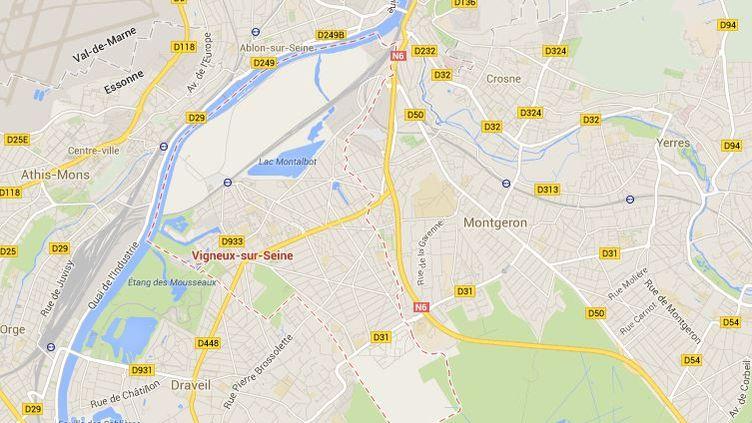 Cette tour se trouve dans le quartier de la Croix-Blanche, à Vigneux-sur-Seine (Essonne). (GOOGLE MAPS)