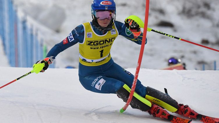 L'Américaine Mikaela Shiffrin au slalom de Levi (JUSSI NUKARI / LEHTIKUVA)
