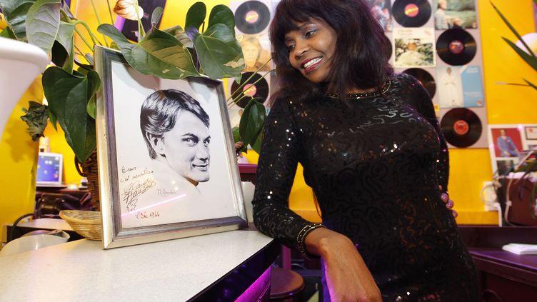 Ketty, l'une des douze Clodettes qui réclamaient des droits, le 16 février 2012. (FRANCOIS GUILLOT / AFP)