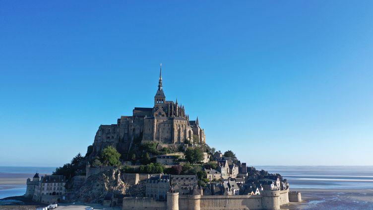 Le Mont-Saint-Michel, le 25 mai 2020. (DAMIEN MEYER / AFP)