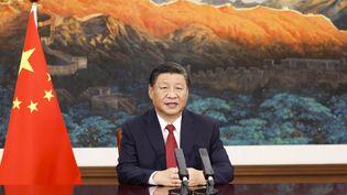 Le président chinois Xi Jinping lors d'un discours officiel le 18 septembre 2021. (HUANG JINGWEN / XINHUA)