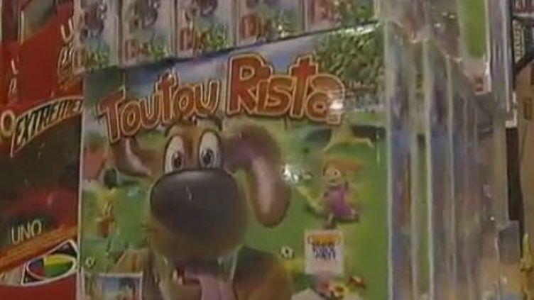"""Toutou Rista, le jeu qui fait des """"crottes"""". (VIDÉO :VALÉRIE GAGET ET VALÉRIE LUCAS / FRANCE 2)"""
