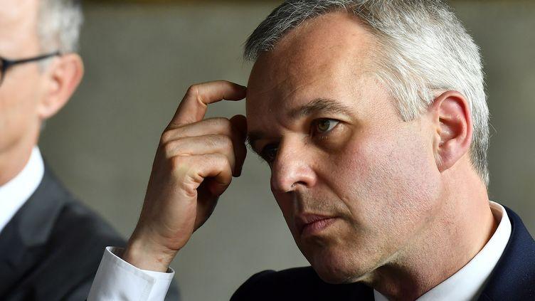 Le ministre de la Transition écologie et solidaire, François de Rugy, le 11 juillet 2019 à Niort (Deux-Sèvres). (GEORGES GOBET / AFP)
