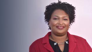 Stacey Abrams,femme politique américaine, elle a contribué à la victoire de Joe Biden dans l'état clé de Géorgie, aux États-Unis. (STÉPHANIE BERLU / FRANCE-INFO)