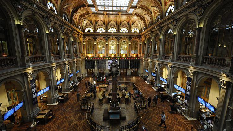 La Bourse de Madrid (Espagne), le 15 novembre 2011. (CRISTINA QUICLER / AFP)