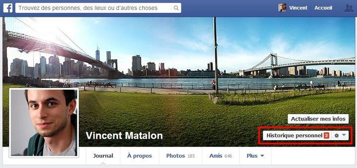 """La zone """"historique personnel"""", qui vous permettra de limiter les dégâts. (VINCENT MATALON / FRANCETV INFO)"""
