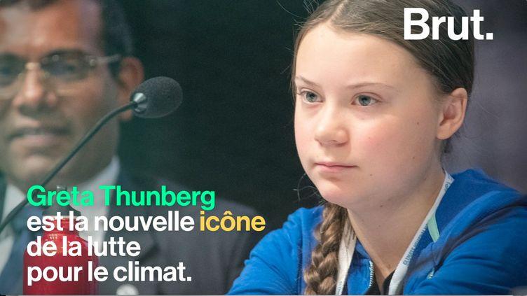 À16 ans, la jeune Suédoise Greta Thunberg est déjà une grande figure du militantisme écologique. (BRUT)