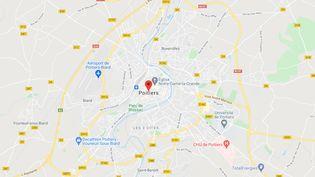 Poitiers (Poitou). (CAPTURE ECRAN GOOGLE MAPS)
