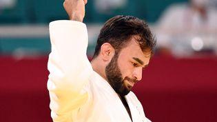 Luka Mkheidze lors des Jeux de Tokyo, le samedi 24 juillet (MILLEREAU PHILIPPE / KMSP)
