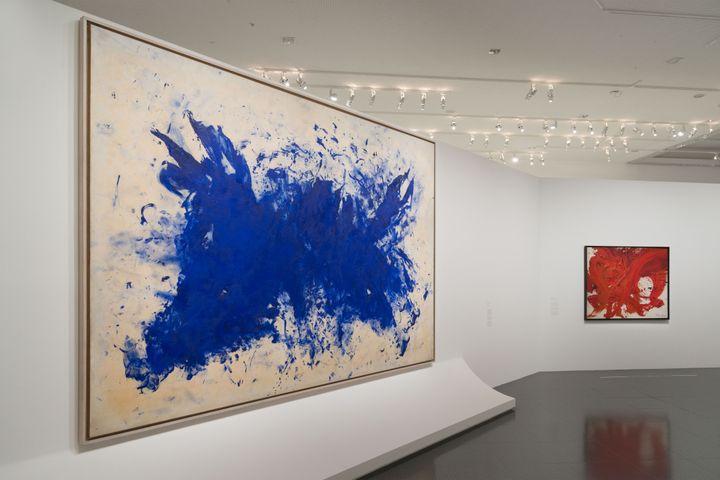 """Exposition """"Le ciel comme atelier. Yves Klein et ses contemporains""""auCentre Pompidou-Metz (Centre Pompidou-Metz / Photo Jacqueline Trichard / 2020 /)"""