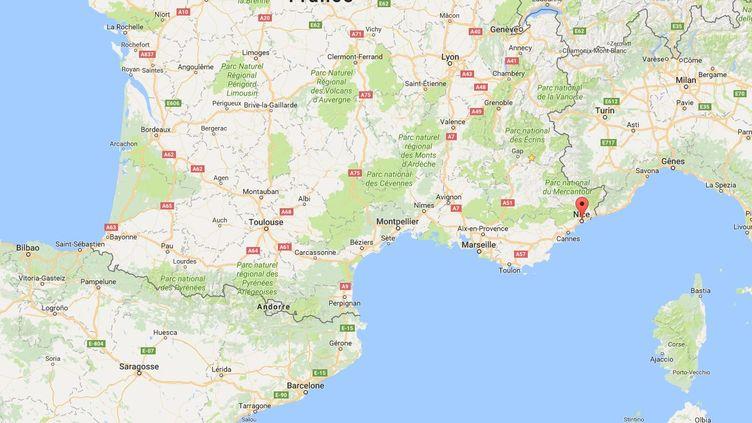 Deux jeunes filles ont été interpellées, le 1er avril 2017, dans les Alpes-Maritimes. Elles sont soupçonnées d'avoir voulucommettre un attentat. (GOOGLE MAPS)