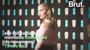 Grande icône d'Hollywood, elle a également fait entendre sa voix pour le droit des femmes. Voici la vie de Jennifer Lawrence. (BRUT)