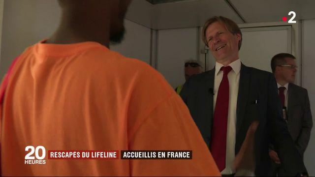 Rescapés du Lifeline : accueillis en France