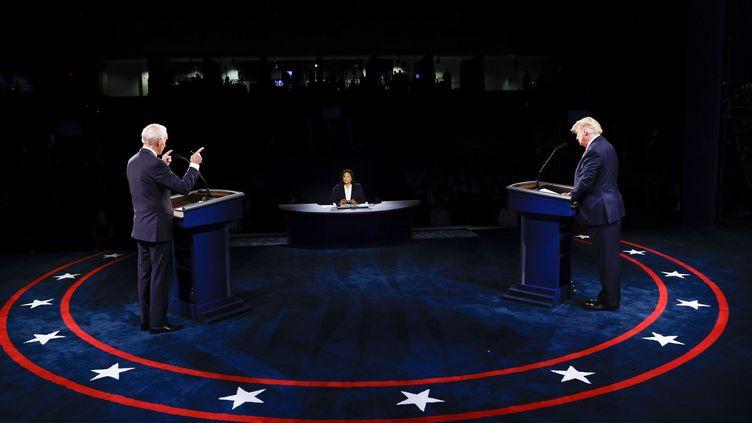 Le débat entre Joe Biden et Donald Trump, le 22 octobre 2020. (GETTY IMAGES NORTH AMERICA VIA AFP)