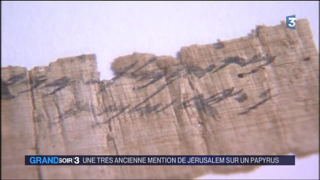 Israël : un papyrus ancien mentionne Jérusalem