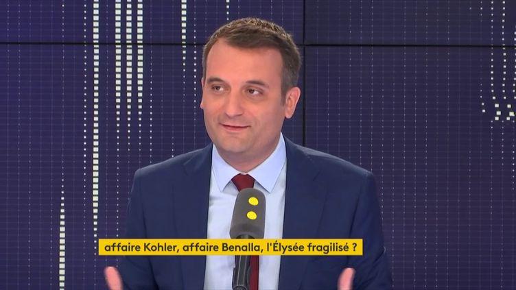 Florian Philippot, invité de franceinfo le 9 août 2018. (FRANCEINFO)